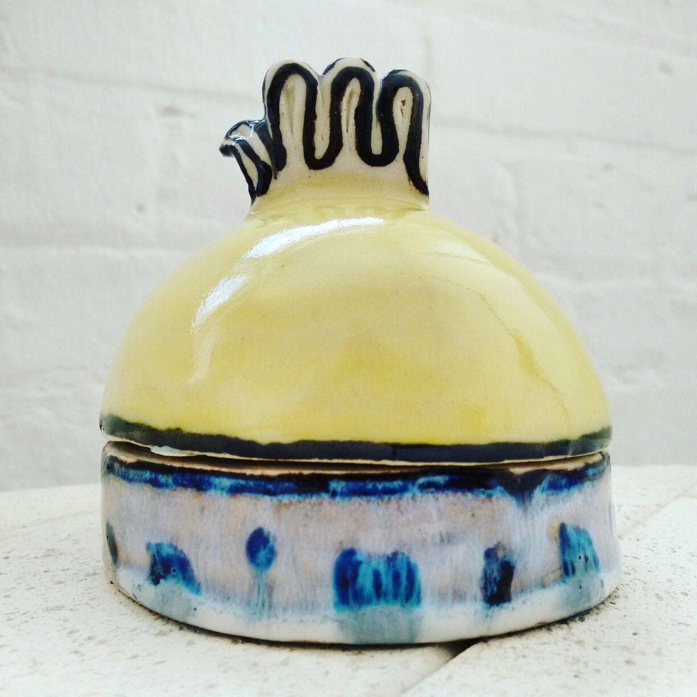 Ceramic, handmade, yellow
