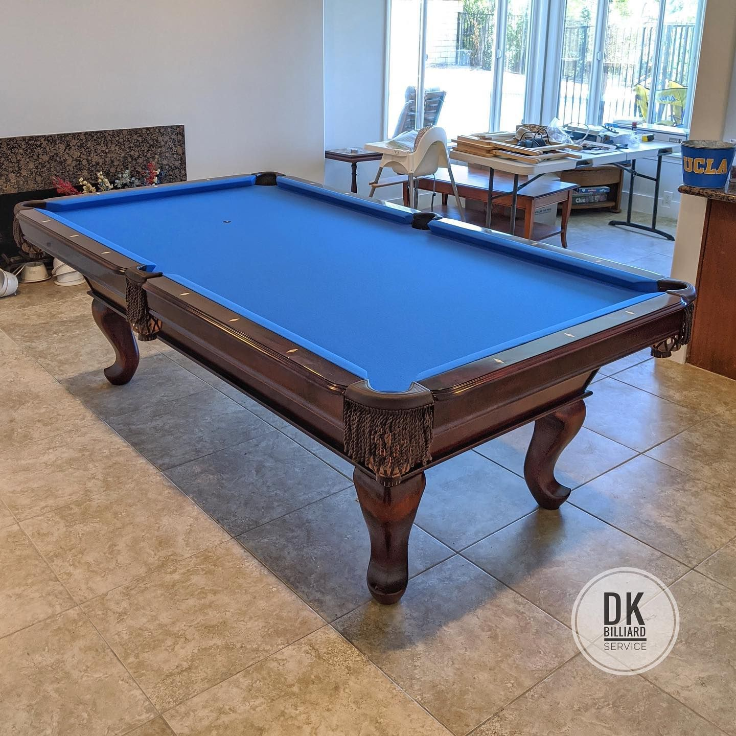 8 foot ABC Tiburon pool table installation in North Tustin. New