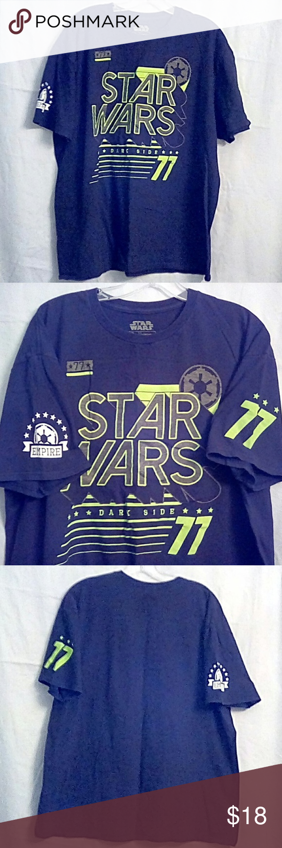 73cceae961 Star Wars Dark Side 77 T-Shirt Star Wars Dark Side 77 T-Shirt Very good  pre-owned condition. Tag says 2XL