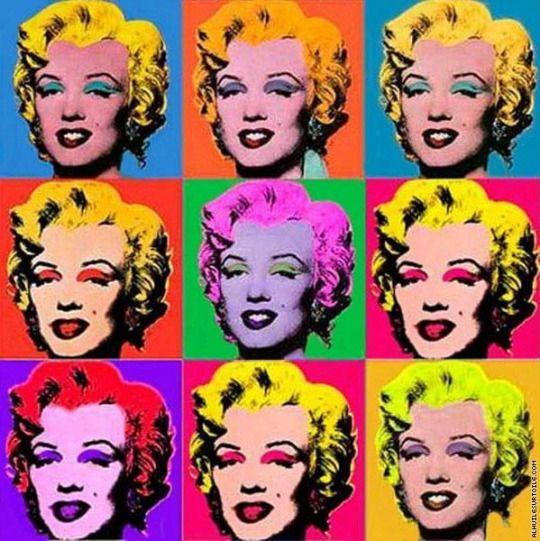 "Andy Warhol ""Marilyn Monroe"" - Life imitates art."