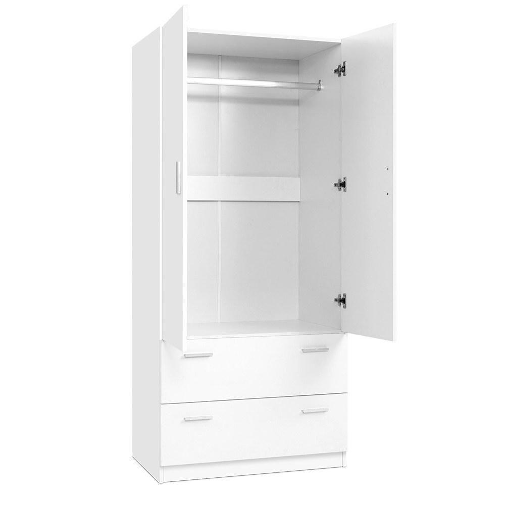 2 Doors Wardrobe Bedroom Closet Storage Cabinet Organiser Armoire