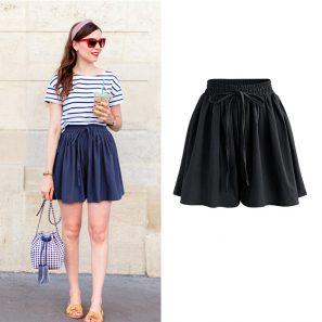 High Waist Loose Chiffon Shorts - BeFashionova #chiffonshorts