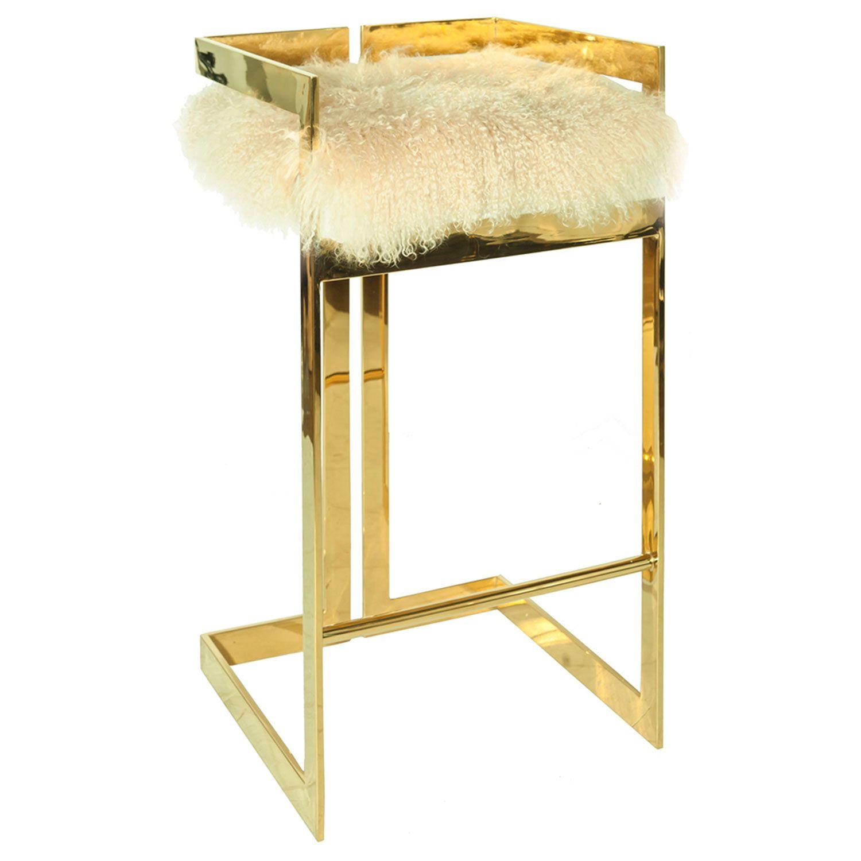 worlds away hearst mongolian fur with brass bar stool zincdoor. worlds away hearst mongolian fur with brass bar stool zincdoor