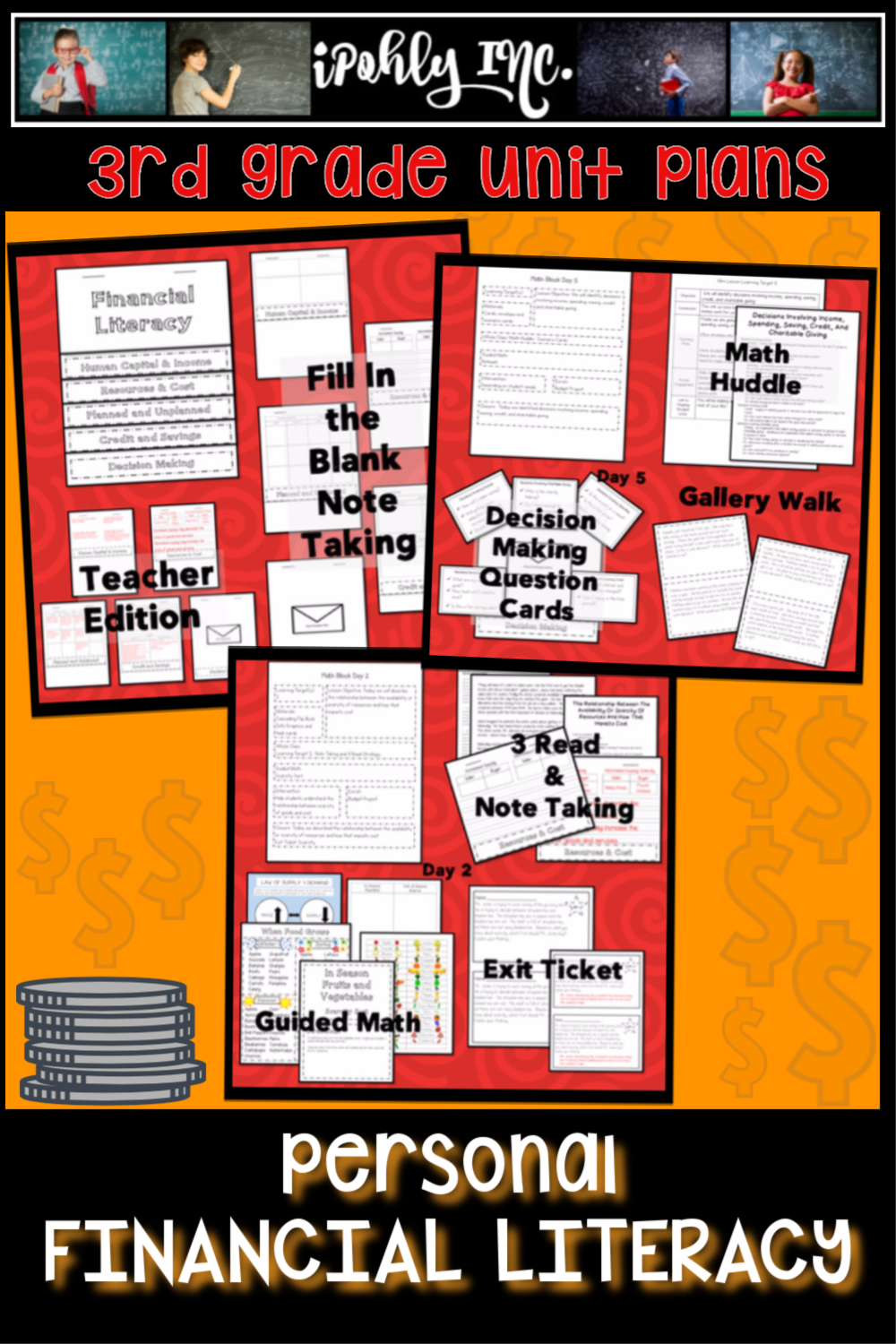 Personal Financial Literacy Unit Plan Financial Literacy Lessons Math Lesson Plans Elementary Guided Math [ 1500 x 1000 Pixel ]