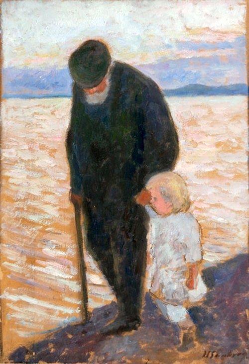 Hugo Simberg Old Man And Child 1913 Hugo Simberg Paintings