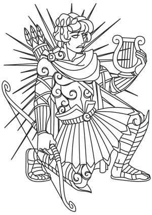 Greek Gods Apollo Greek Gods Coloring Pages Coloring Books