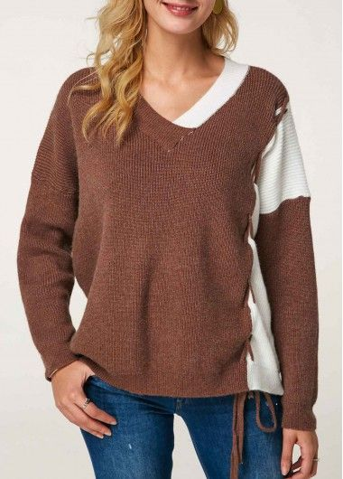 Wine Red Strappy Shoulder Mock Neck Sweater  7871b6863