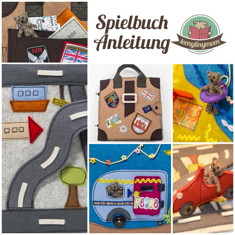 Teddy im Urlaub - ein Spielbuch aus Filz nähen | Pinterest ...