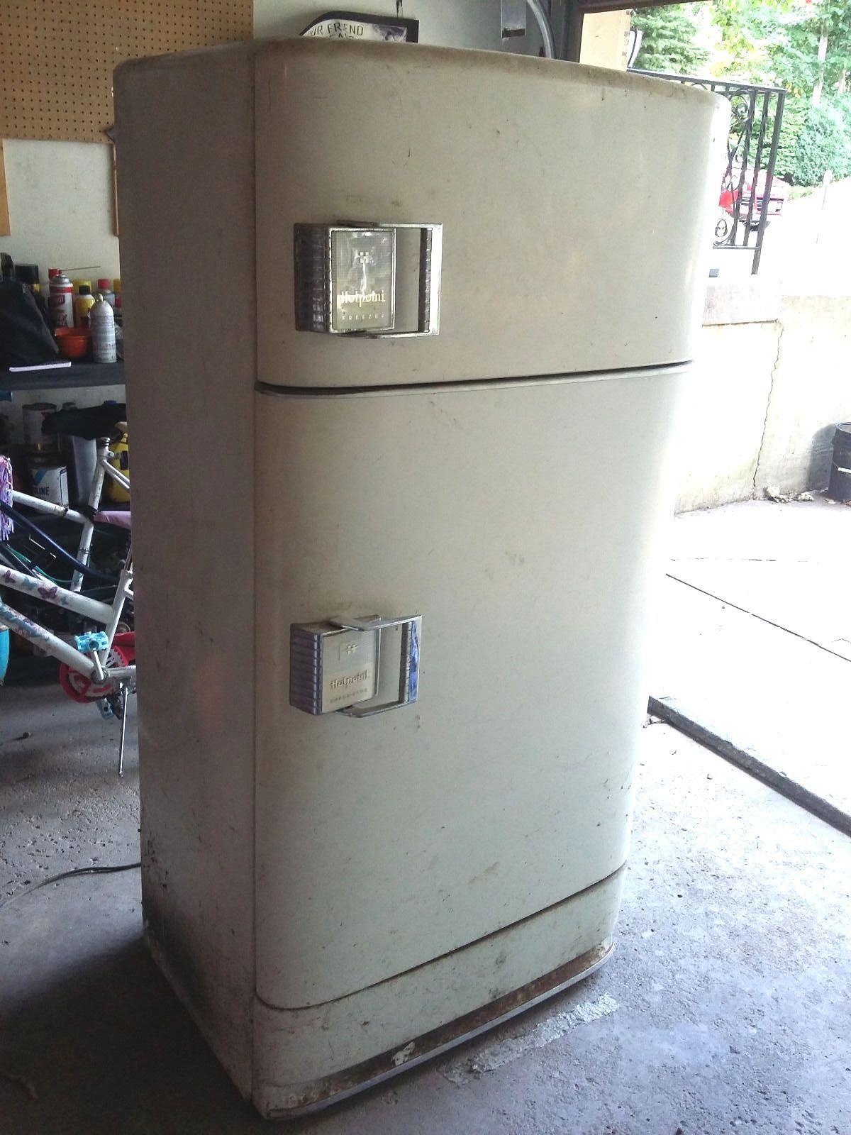 Details about Vintage 1950s Kelvinator Refrigerator