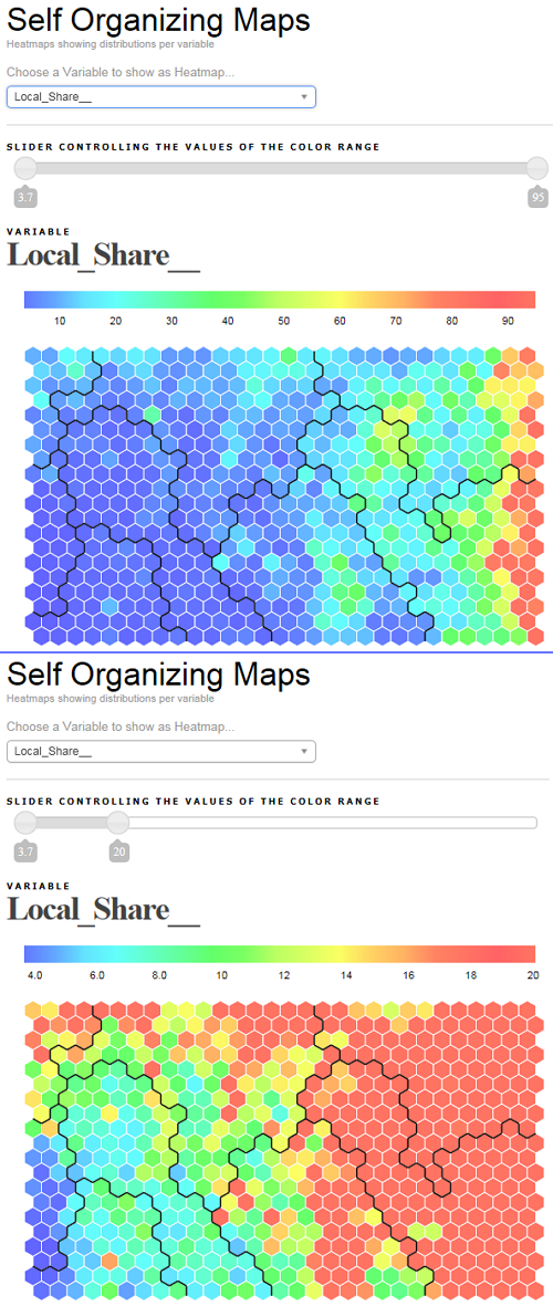 Self Organizing Maps - Creating hexagonal Heatmaps with D3 js | Data