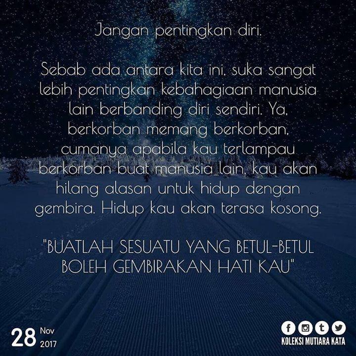 hidup jangan terlalu pentingkan diri sendiri islamic quotes