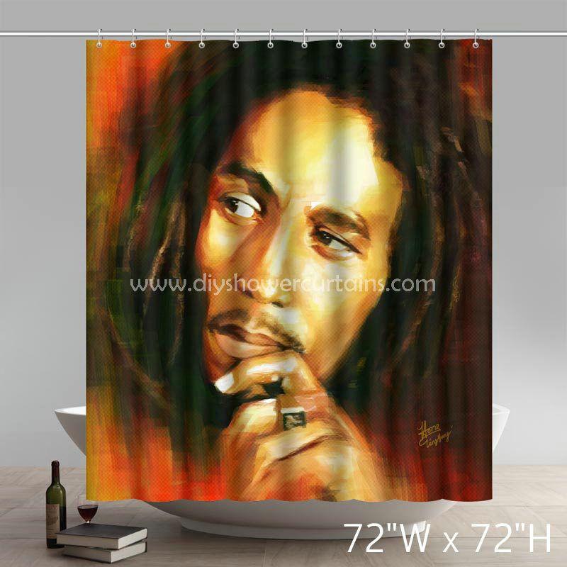 Symbol Bob Marley Bathing Shower Curtains Marley Bob Marley Personalized Shower Curtain