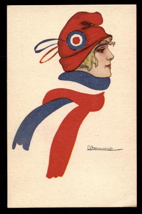Illustrateur Marianne Symbole Patriotique France Patriotic Symbol Marianne Symbole Illustration Carte Postale
