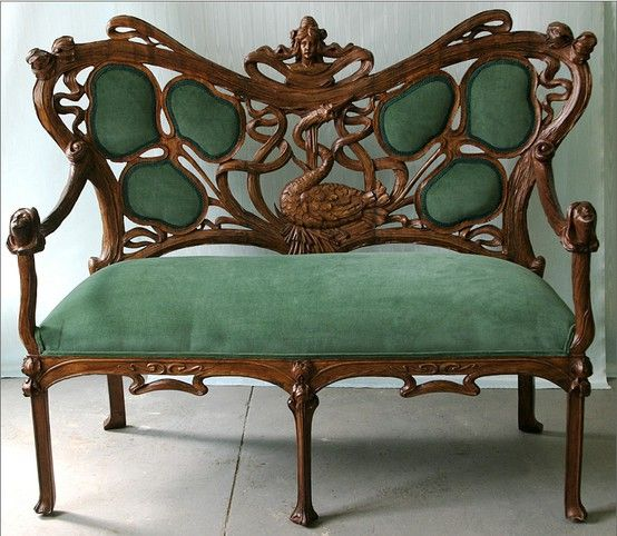 amazing art nouveau settee furniture styles designers pinterest jugendstil m bel. Black Bedroom Furniture Sets. Home Design Ideas
