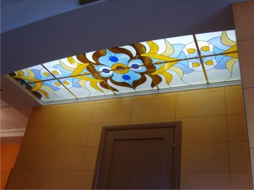 Stained Glass Ceiling Panels For Hallway A Comprehensive Guide To Installing Stained Glass Ceili False Ceiling Design Ceiling Design Ceiling Beams Living Room