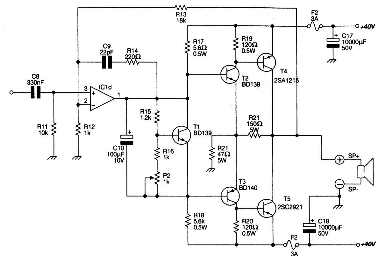 Amp 100w Ocl 2sa 819