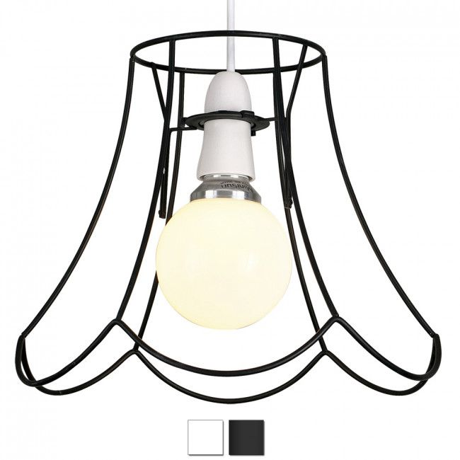Industrial style taylor wire frame lamp shade in black hallway industrial style taylor wire frame lamp shade aloadofball Gallery