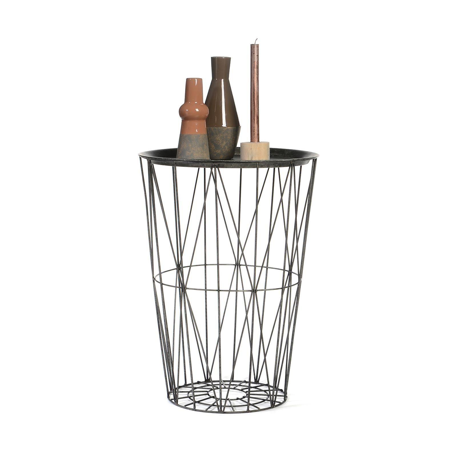 beistelltisch metall grau ca d 45 x h 60 cm living in 2018 pinterest tisch beistelltisch. Black Bedroom Furniture Sets. Home Design Ideas