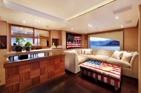 Yes! This is a yacht! For more pictures and the full story visit http://gulfnews.com/life-style/home-interiors/wave-of-style-a-vibrantly-eclectic-superyacht-1.1046557#