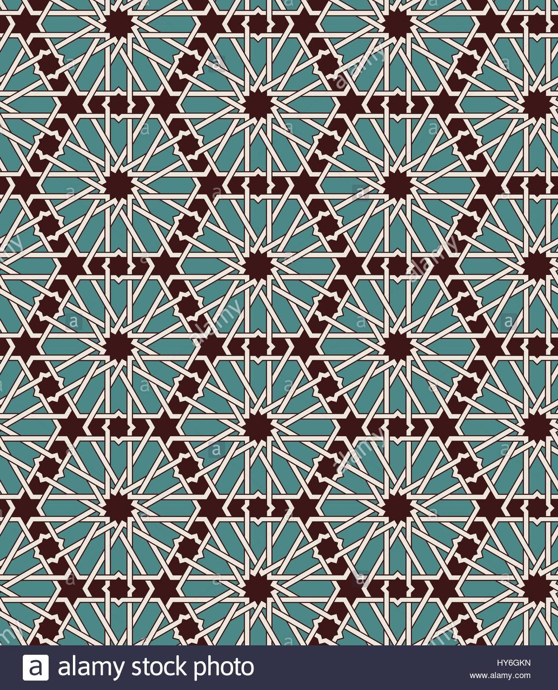 seamless islamic moroccan pattern arabic geometric ornament muslim texture vintage repeating background