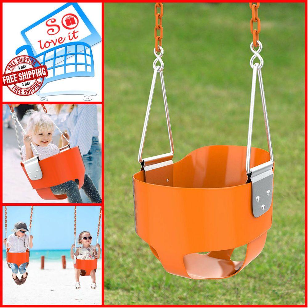 Kids tree swing seat bucket set accessories for backyard
