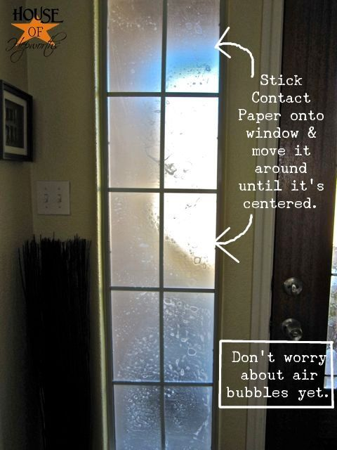 Cheap U0026 Easy Privacy   Use Clear Contact Paper To Frost Doors, Bathroom  Windows, Etc. (thriftydecorchick U0026 House Of Hepworths)