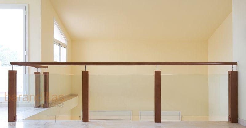 Barandillas madera cristal buscar con google barandas - Escaleras de cristal y madera ...