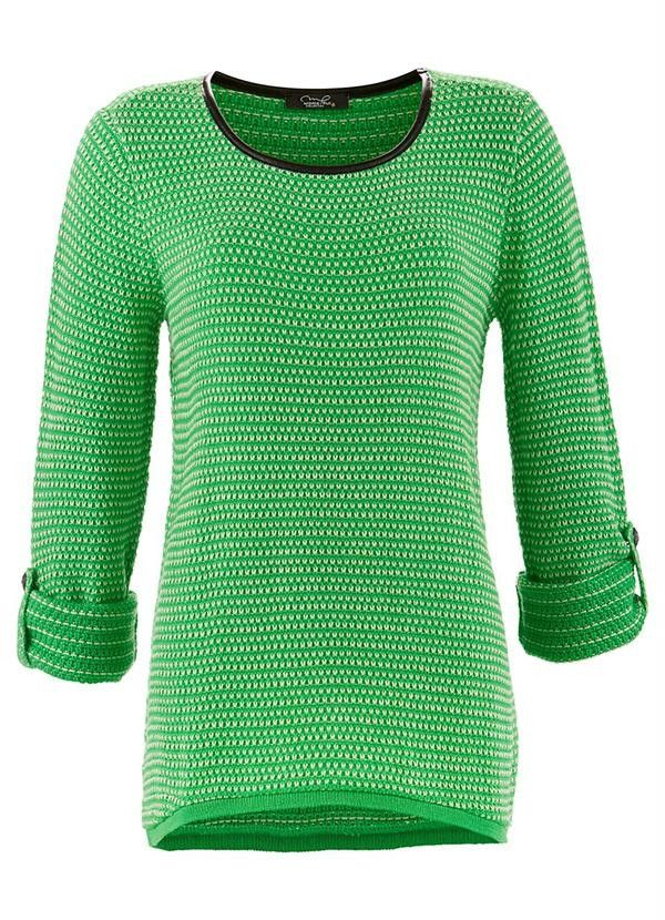 e3849669d8 Blusa de linha em crochet manga longa