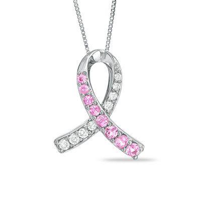 Zales Pink Ribbon Pendant 333 Cancer Jewelry Amazing Jewelry Ribbon Jewelry