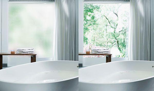 Sonte Folie macht Fenster via WLAN blickdicht trauer Pinterest - folie für badezimmerfenster