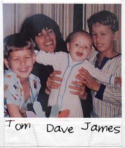 James Franco with his siblings during his childhood