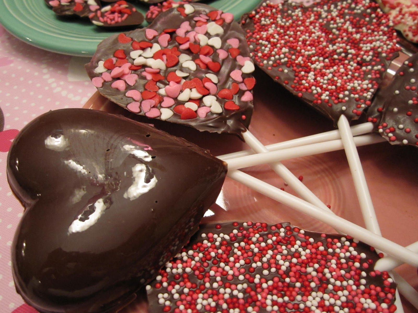 Happy Valentines Day Chocolate Hearts