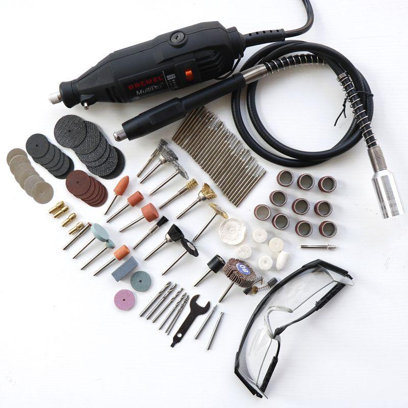 Utensili Elettrici Mini Trapano Rotary Utensili accessori con 106 pz punte dischi da taglio carta abrasiva albero flex