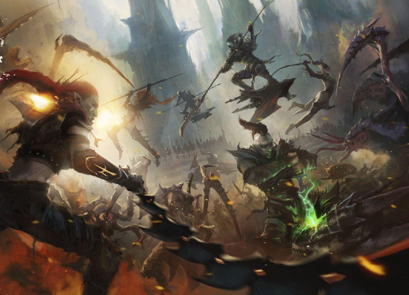 Dark Eldar Ynnary Roster Warhammer 40k Artwork Dark Eldar Warhammer