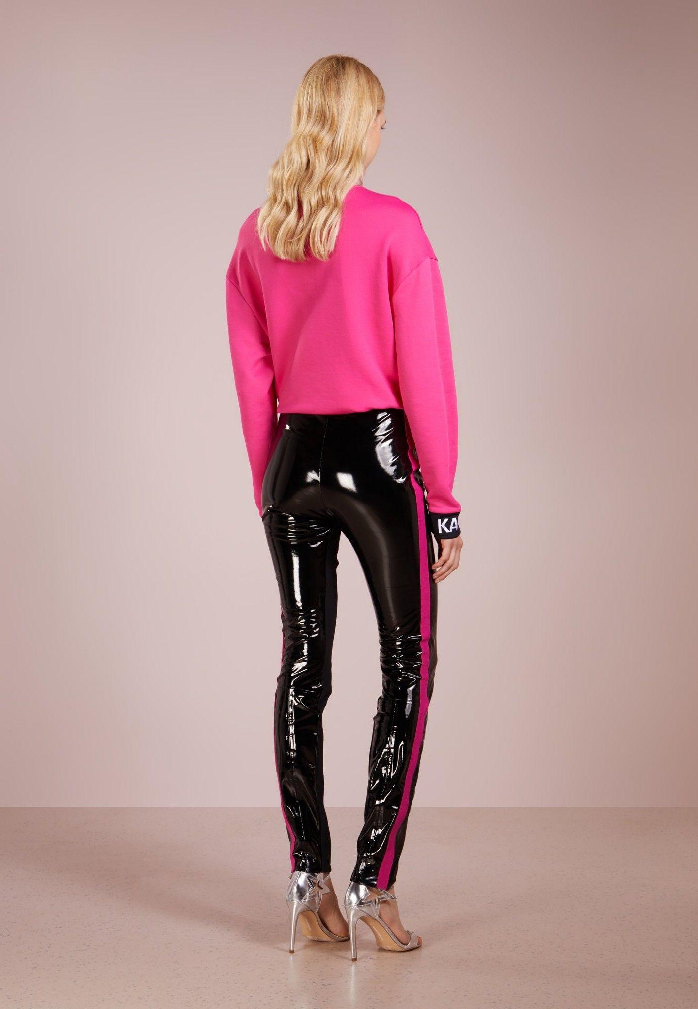 bcb58ce3c3dc4 Karl Lagerfeld pants. Top 1 purchase now! #Stripe leather pants ...