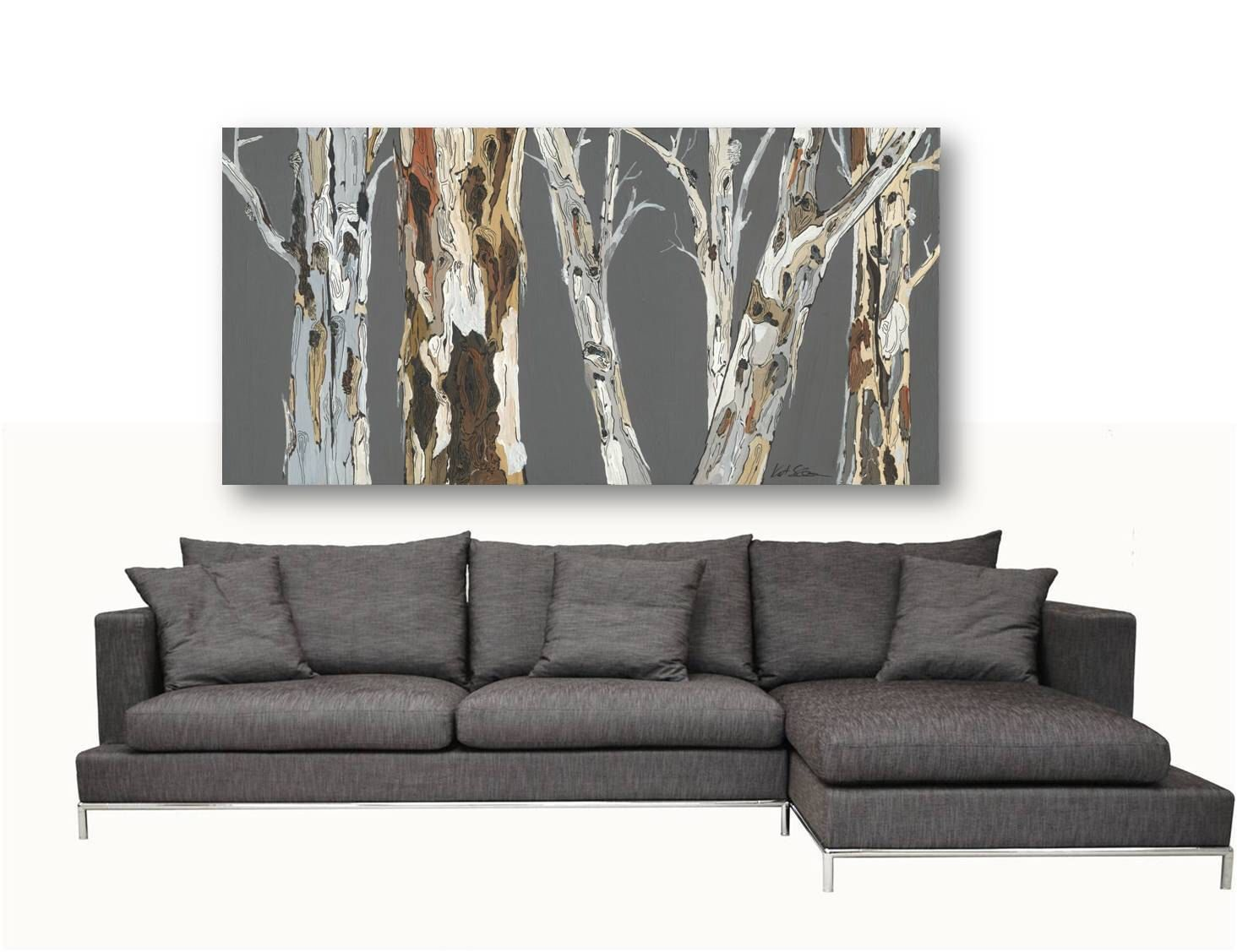 Extra LARGE Wall Art Print tree Art Rolled canvas pastels ...