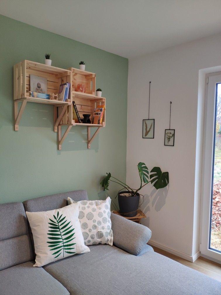 Holz Grün und Grau Liebe | Einrichten und wohnen, Wohnzimmer ...