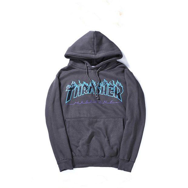 b4c7f289 Thrasher Magazine Flame Logo Dark Gray Hoodie. Thrasher Magazine Flame Logo  Dark Gray Hoodie Thrasher Sweatshirt, Tumblr Outfits, Mens Sweatshirts,.  Visit