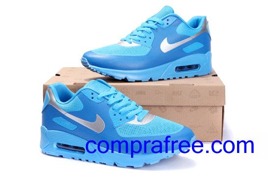 Comprar Barato Hombre Nike Air Max Zapatillas Color Azul Plata En Linea En Espana Nike Air Max Air Max Sneakers Nike Air