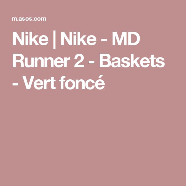 Nike | Nike MD Runner 2 Baskets Vert foncé (avec