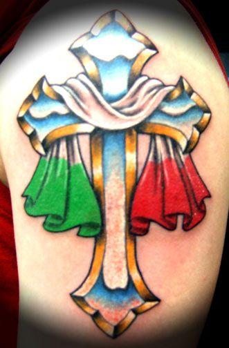 italian cross Italian Designs tattoo design art flash ...