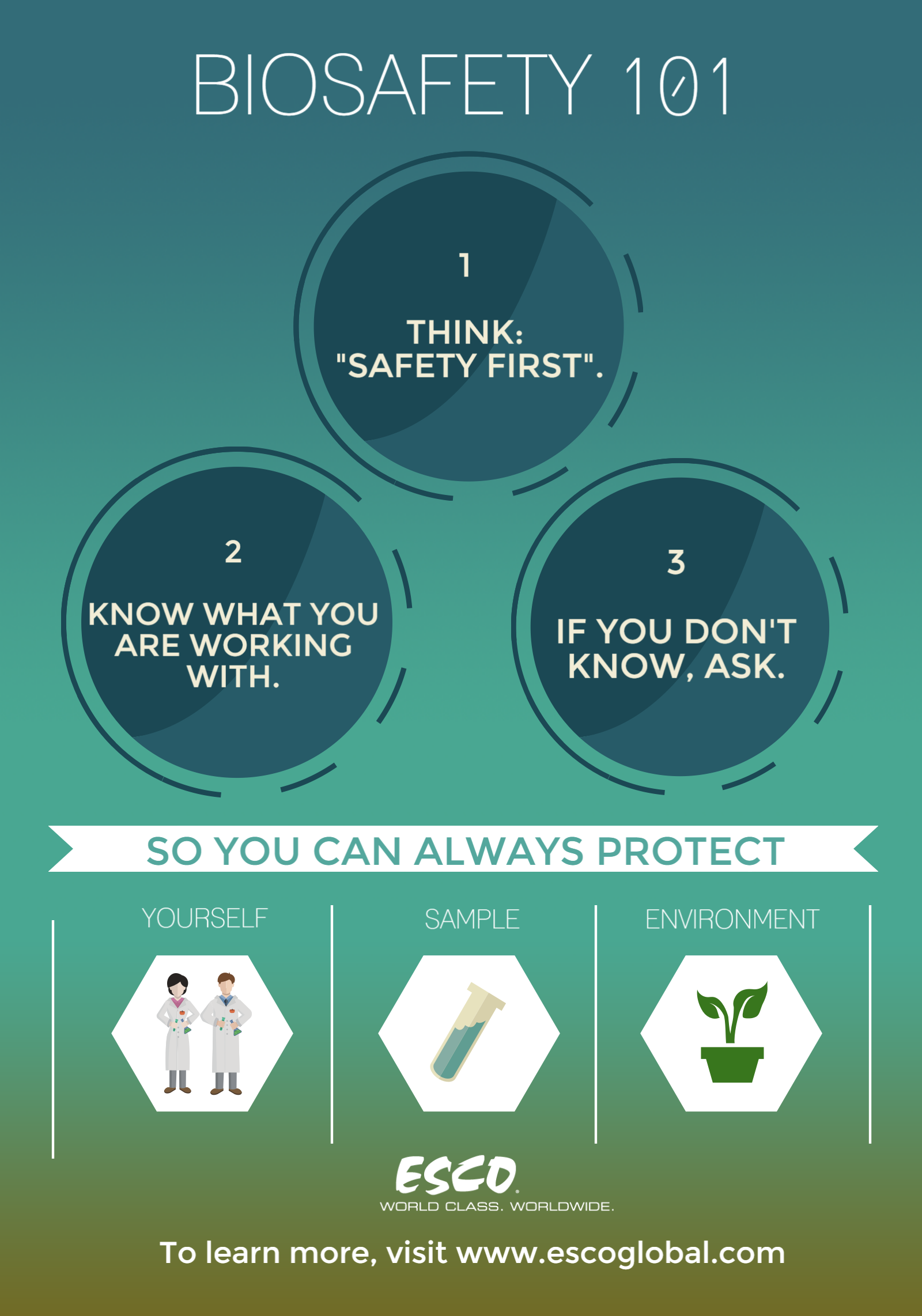 Practice Biosafety with ESCO Biosafety Cabinets! Protect yourself ...