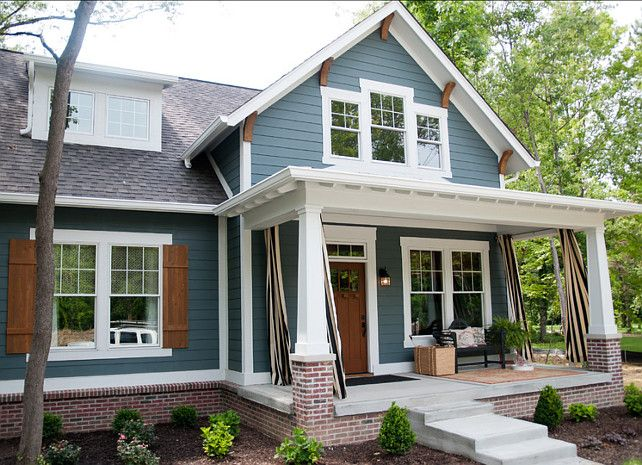 The perfect paint schemes for house exterior siding for Perfect blue grey paint color