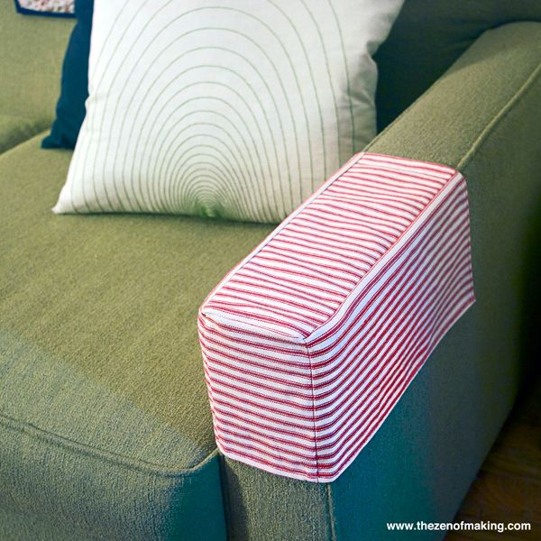 Tutorial Simple Fabric Armrest Covers Sofa Arm Covers