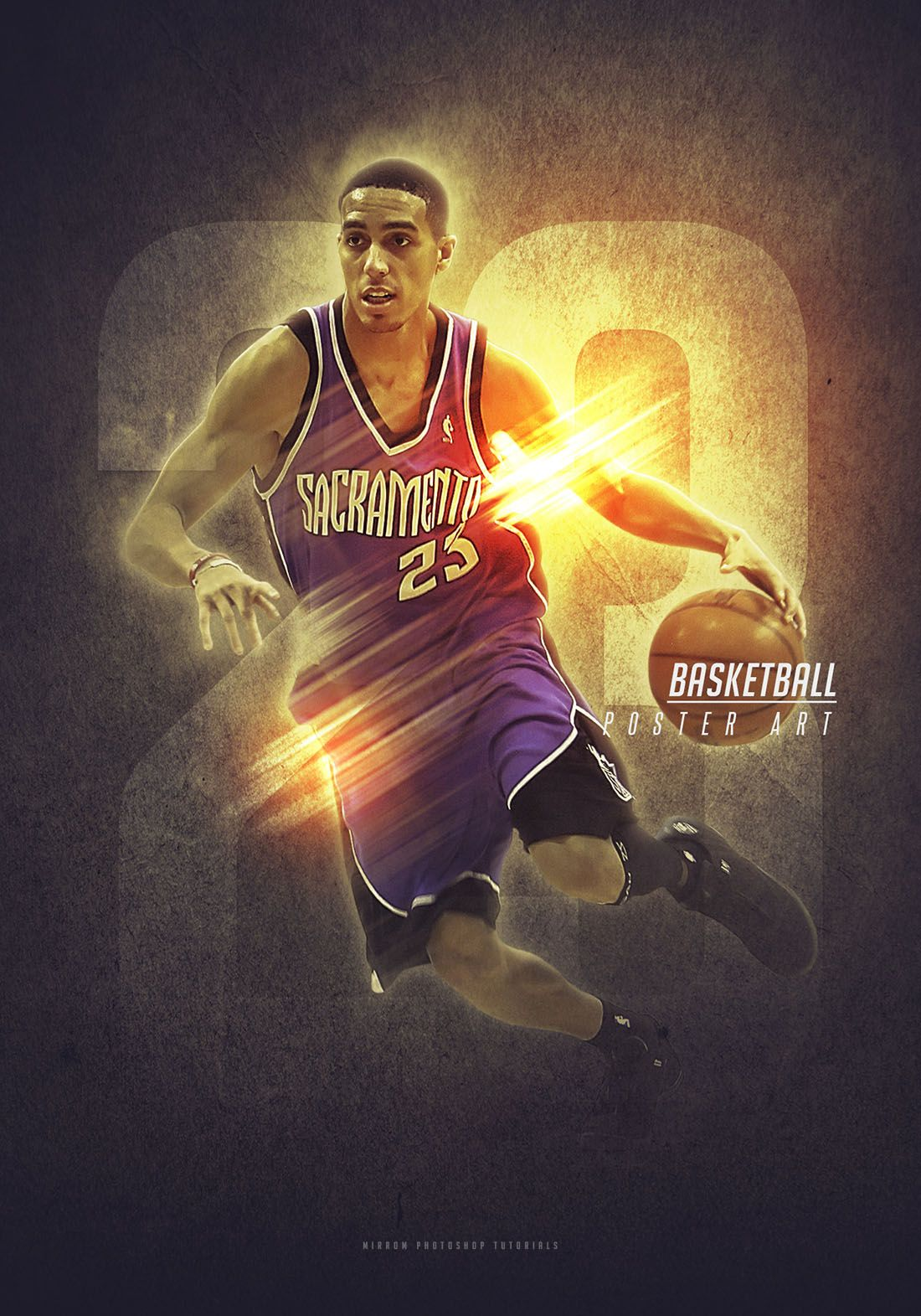 create a basketball sport poster in photoshop cc photoshop
