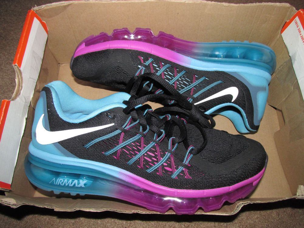 Nike AIR MAX 2015 Womens Running Shoes 6.5 Black Clearwater