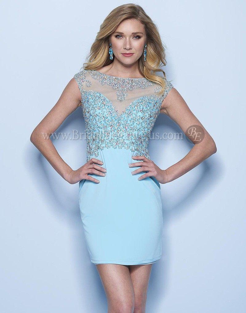 Aqua Illusion Short Dress 222741 | Homecoming Dress | Bridal ...
