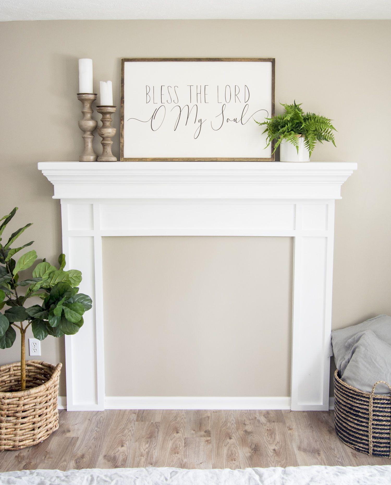 Diy faux fireplace mantel tutorial faux fireplace diy