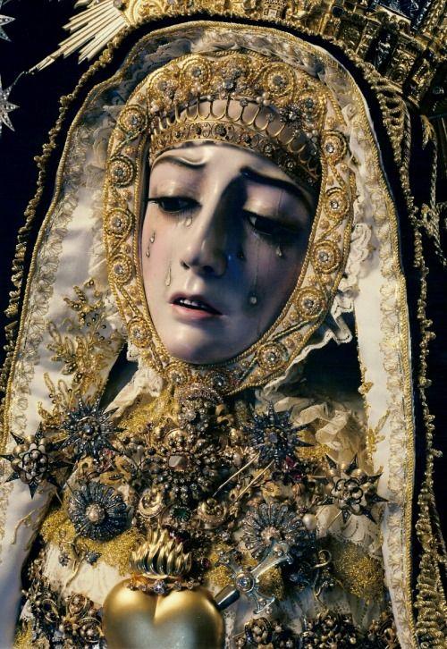 Virgen de los DoloresThe statue of the Virgin of Sorrows in Cordoba, Spain.