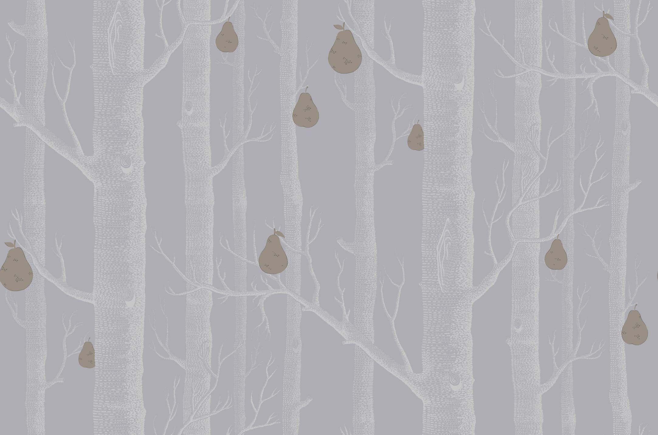 95 5030 Woods Pears Wallpaper Jojo Design Studio Cole And Son Wallpaper Birch Tree Wallpaper Wood Wallpaper